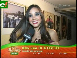 Andrea Aliaga muestra su nuevo look