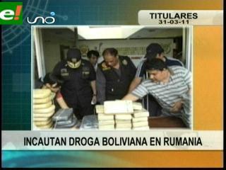 Incautan 150 kilos de cocaína boliviana en Rumania