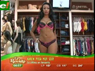 Karen Vargas estrena lencería sexy