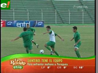 Quinteros ya tiene el equipo para enfrentar a Paraguay