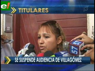 Suspenden audiencia de Alcides Villagómez
