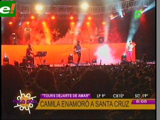 Camila enamoró Santa Cruz