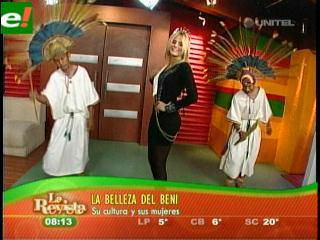 María Teresa Roca promociona lugares turísticos del Beni