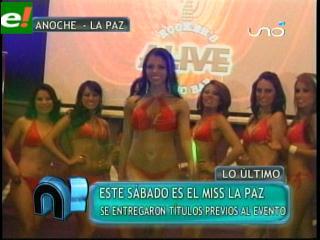 Miss La Paz 2011 entregó premios