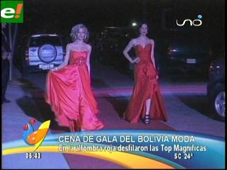 Alfombra roja para Bolivia Moda 2011
