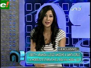 Lisbeth Aranda será parte del Bolivia Moda 2011