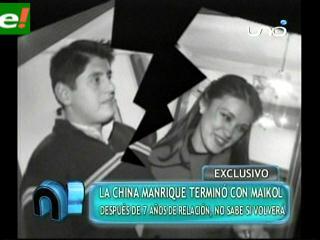 Sandra Manrique terminó relación de noviazgo