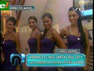 Candidas al Miss Santa Cruz 2011 visitaron Joyería Andrea