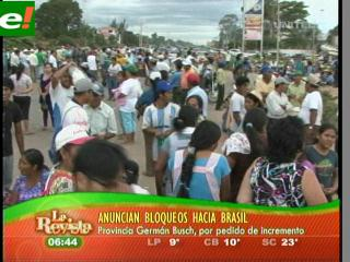 Carretera y línea férrea a Brasil amaneció bloqueada