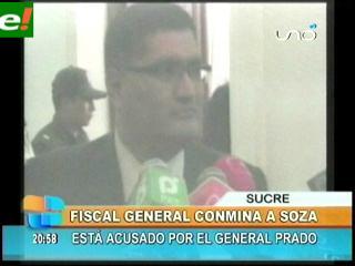 Fiscal General le da plazo de 24 horas a Marcelo Soza para presentar pruebas