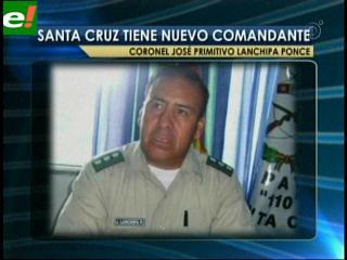 José Primitivo Lanchipa es el nuevo Jefe Policial de Santa Cruz