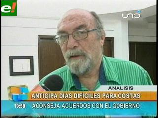 Analista José Mirtenbaum presagia días difíciles para Rubén Costas