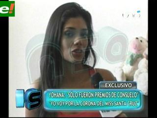 Johana Vaca minimiza premios de Fabiana Barrero y Jessica Mouton