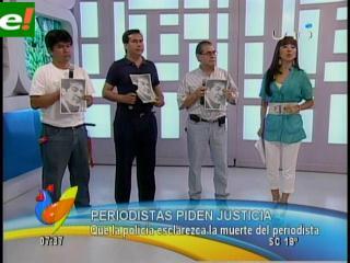 Prensa boliviana, indignada por asesinato de periodista