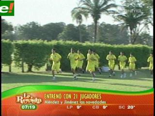 La selección nacional en cuarto microciclo de entrenamiento
