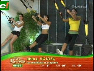 Comenzó el trabajo físico para candidatas al Miss Bolivia 2011