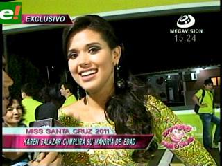 Karen Salazar Miss Santa Cruz 2011, aún es menor de edad