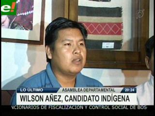 Wilson Añez es candidato de los Pueblos Indígenas para la Asamblea