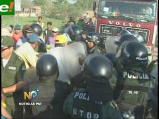 Policía desbloquea Pailón