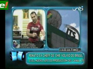 Renato el Cheff, ahora trabaja en tv cable ITS