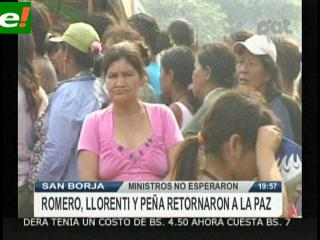 Ministros abandonan San Borja sin hablar con indígenas