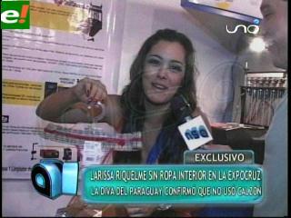 Larissa Riquelme sin ropa interior