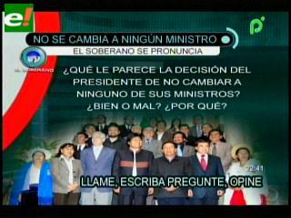 Evo Morales mantiene a sus ministros