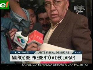 General Oscar Muñoz se presentó en Sucre