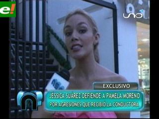 Jessica Suárez defiende a Pamela Moreno