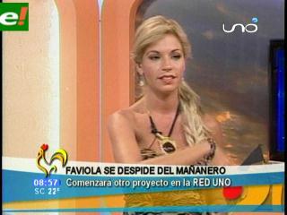 Faviola Roca se despidió del «mañanero»