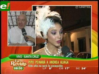 Pippo Galarza peinará a Andrea Aliaga