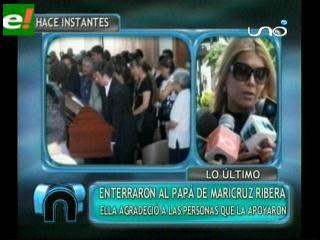 Maricruz Ribera enterró a su padre