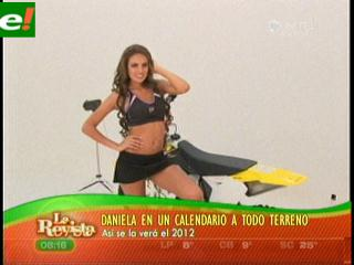 Daniela Núñez del Prado en calendario 2012