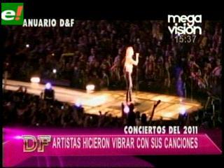 Los conciertos del 2011
