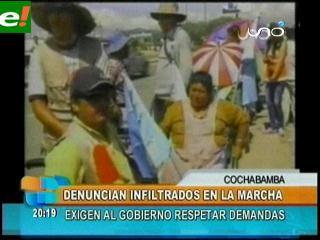 Discapacitados llegaron a Cochabamba