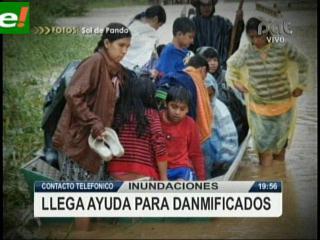 Se inició la campaña por los damnificados de Pando