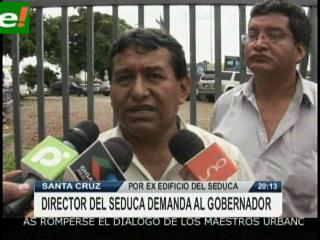 Maestros cruceños demandan a Gobernador Costas
