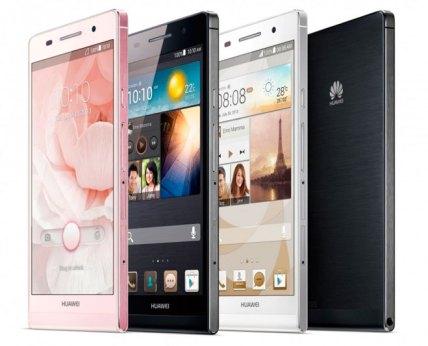 Diversidad de colores disponibles con el Huawei Ascend P6