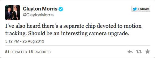 El chip A7 contará con un núcleo para el seguimiento del movimiento que permitiría mejoras en la cámara.