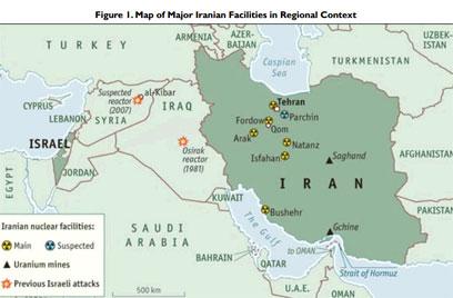 Mapa-de-plantas-nucleares-de-Iran