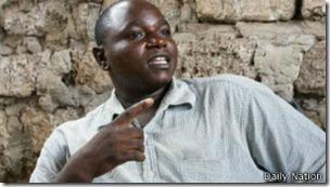Sylvester Mwendwa es uno de los dos beneficiarios del acuerdo para compartir esposa en Kenia.