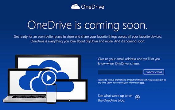 one drive SkyDrive pasa a llamarse OneDrive
