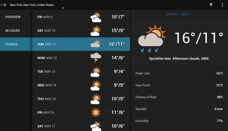 widgets para android eye in the sky weather