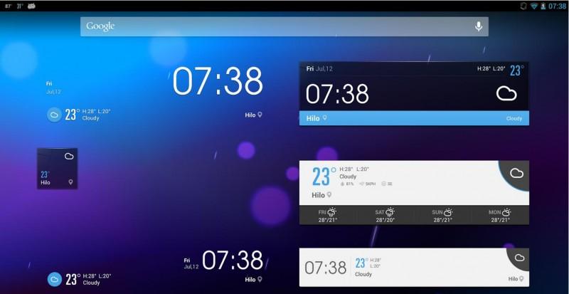widgets para android ez weather