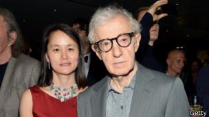 Woody Allen y su esposa