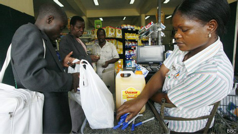 Supermercado en Zimbabue