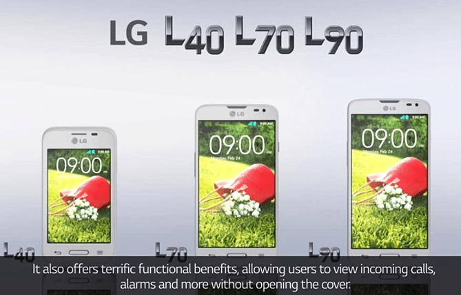 LG L40, L70 y L90