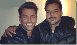 Ricky Martin y Federico Diaz