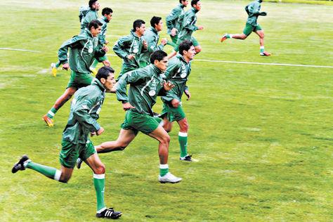 Selección. Una práctica de Bolivia en la previa a un partido oficial.