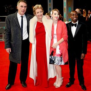 Greg Wise, Emma Thompson, Gaia Wise and Tindyebwa Agaba Wise, BAFTA Film Awards 2014
